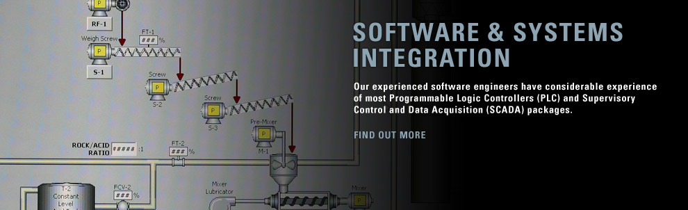 Our experienced software engineers have considerable experience of most Programmable Logic Controllers (PLC) and Supervisory Control and Data Acquisition (SCADA) packages.